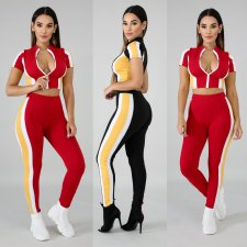 Casual Patchwork Sports 2 Piece Set LX-3080