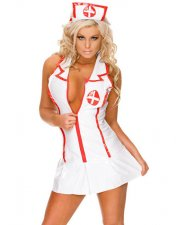 White Nurse Lingerie with Cap G-string YQ-869