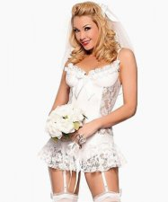 White Lace Bride Wholesale Lingerie FQQ-0166
