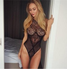 Mesh See Through Lace Sexy Teddy Lingerie YQ-359