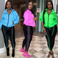 Casual Tracksuit Long Sleeve Zipper Two Piece Sets ARM-8129