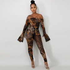 Sexy Hot Drilling Bodysuit And Pants 2 Piece Sets BY-3299
