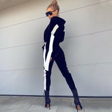 Casual Tracksuit Hooded Two Piece Pant Sets FL-90529