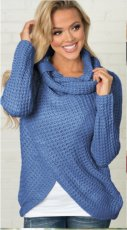 Women Long Sleeves Knitting Sweater