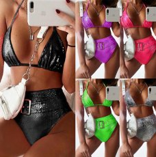 Sexy High Waist Padded-Bra Bikinis Sets MJ-2080