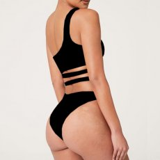 Sexy Tiger Print One Shoulder Bandage One Piece Swimsuit MJ-2089