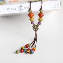 Necklaces Pendants Ceramic Beads Retro Long Pendant Accessory Jewelry