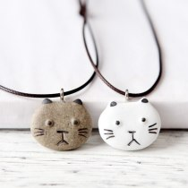 Lovely Cat Zodiac Pendant Necklace Kitty Dog Pig Tige Zodiac Animal Necklaces Jewelry