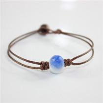 Cracked Stone Beautiful Ceramic Love Bangles Bracelets Vitage Jewelry