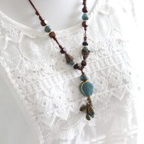 Ceramic Necklaces Long Pendants Simple Chokers Collar Bohemia Jewelry