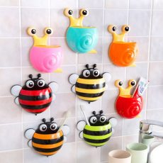 Cute Bee Snail Bathroom Storage Rack Key Holder Kitchen Hook