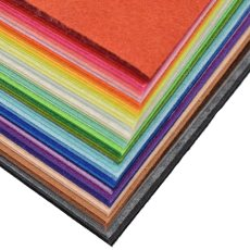 1pc Handmade Felt Fabric Flowers Diy Craft for Dolls Fieltro Felting Wool 30/15cm 60 colors