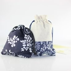 Small Hop-pocket for Jewelry Bracelets Necklaces Cotton Bag Handmade Gift Bags