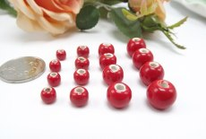 Large Red Beads Bright Porcelain Chinese Knot Jewelry DIY Material