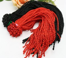 Rope Bracelet Red Hand Twisted Rope Line 10pcs DIY Material