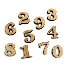 100pcs Mixed Number Wood Craft Embellishments MDF Wooden Cutout Flatbacks Scrapbooking for Cardmaking DIY Art Decoration