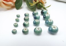 Ceramic Beads Wholesale Fambe Glaze Retro Green DIY Handmade Materials
