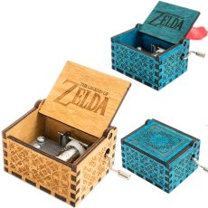 Game The Legend of Zelda Theme Handmade Engraved Wooden Music Box Crafts