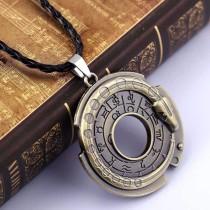 Zodiac Signs Fashion Ouroboros Snake Amulet Necklace Pendant