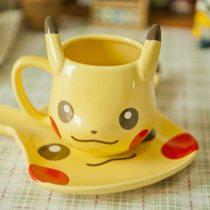 Pokemon Pocket Monsters Pikachu Ceramic Mug Plate Set