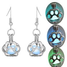 Night Luminous Glow In The Dark Pet Cat Drop Earrings Animal earrings Hollow Pendant Jewelry