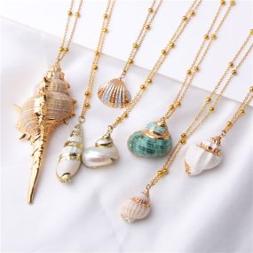 Conch Shell Necklace Sea Beach Shell Pendant