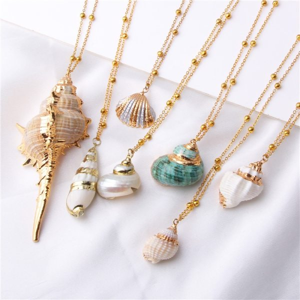Conch Shell Necklace Sea Beach Shell Pendant