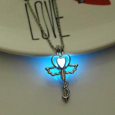 Luminous Stone Love Heart Necklace Glow in the Dark Pendant