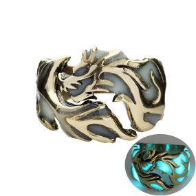 Luminous Dragon Rings Glow In The Dark Adjustable Ring Jewelry