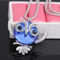 Cute Owl Glass Pendant Necklace