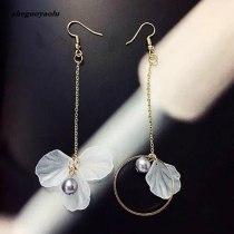 Flower Tassel Earrings Crystal Earrings Drop Earrings