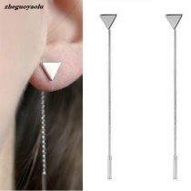 Triangle Earrings Tassel Chain Earrings