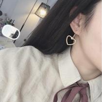 Hollow Geometry Earrings Heart Earrings