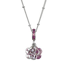 Flower Charms Pendant Necklace For DIY