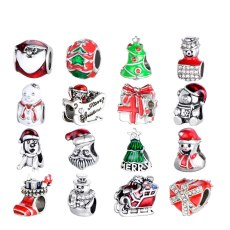 Christmas Socks Snowman Tree Beads DIY