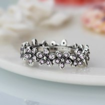 Genuine Ring compatible Silver color Wedding Rings