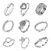 Infinity Love Flower Finger Ring