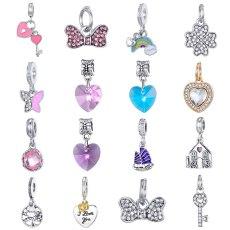 House Rainbow Ship Butterfly Pendant Bracelet Necklace DIY