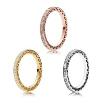 Rose Gold & Silver & Gold Color Brand Ring