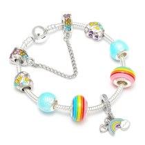 DIY Charm Bracelet With Rainbow