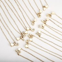 Tiny Gold Initial Necklace Gold Letter Necklace
