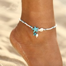 Shell Anklet Beads Starfish Anklets Handmade