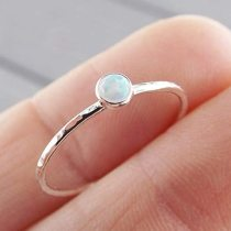Simple Design Fire Opal Rings Engagement Rings