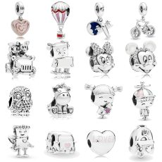 Aircraft Bicycle Mickey Unicorn Charms Beads For DIY