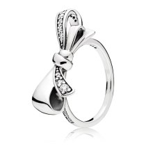 Bow Knot Couples Finger Ring