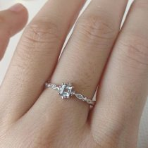 Dainty Blue Crystal Ring