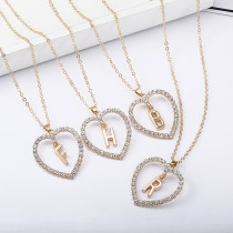 A To Z Long Chain Heart Necklaces