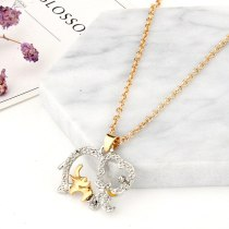 Love Heart-shaped Crystal Chain Necklace