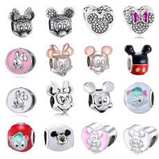 Mickey Minnie Cartoon Charms Bead DIY