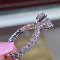 Silver Color Brand Rings Wedding Engagement Ring